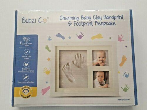 Bubzi Co. Charming Baby Clay Handprint & Footprint Keepsake Picture Frame