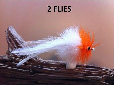 TARPON BUNNY Fly Tan //Orange 2 FLIES size #1//0 Mustad 34007 stainless flats keys