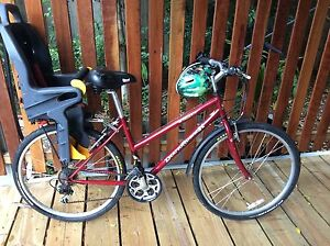 Small frame womens mountain hybrid road bike with child seat + helmet Noosa Heads Noosa Area Preview