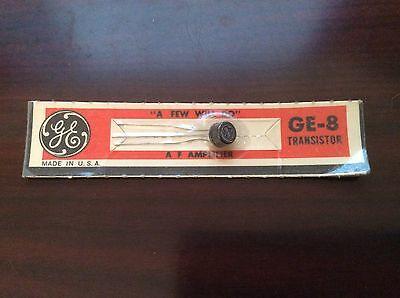 Vintage Ge-8 1962 Black Transistor Unopened New