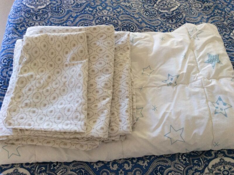 ikea LEN STJARNA crib comforter + 2 covers + 1 pillowcase
