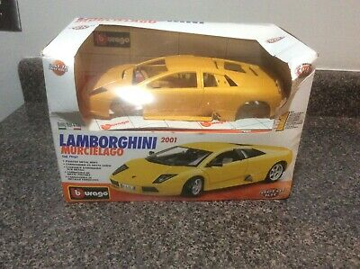 2001 Lamborghini Murcielago Burago Metal DieCast Yellow 1:18 Metal Kit 79161 New