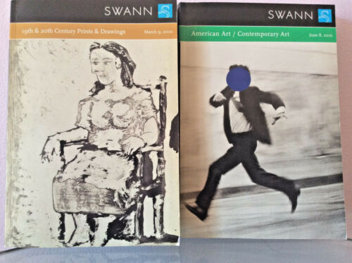 SWANN TWO CATALOGUES  March 9, 2010/ 8 June 2010 Contemporary Art FREE SHIPPING