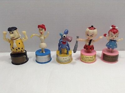 Pebbles And Bam Bam (Set of 5 Kohner  Flinestones Push Puppets Dino, Pebbles, Bam Bam, Wilma and)