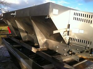 8' and 10' stainless steel single speed electric salters/sanders