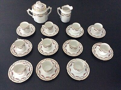 Former coffee service 1900 outline golden flowers