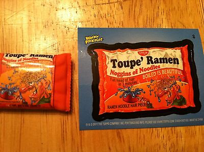 TOPPS WACKY PACKAGES COLLECTIBLE ERASER SERIES 2 TOUPE WIGS #8 NOODLES PARODY - Wacky Wigs