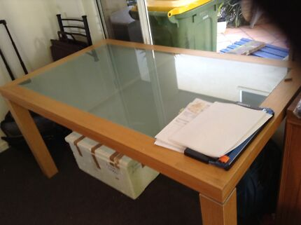 Dining Table with Glass Top Bundall Gold Coast City Preview