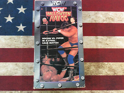WCW Halloween Havoc 1997 97 VHS Video in original sleeve Piper vs Hogan