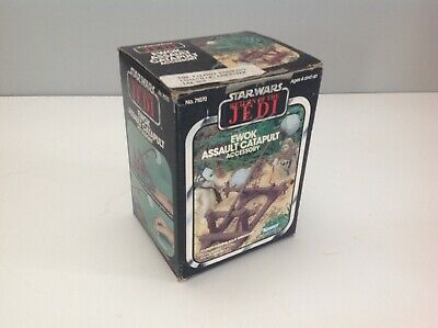 Vintage Star Wars PALITOY EWOK ASSAULT CATAPULT Rare Label Complete Original Box
