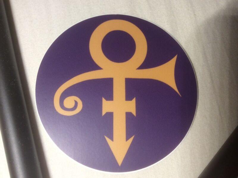 "PRINCE 3"" Round Vinyl Sticker - Love Symbol"