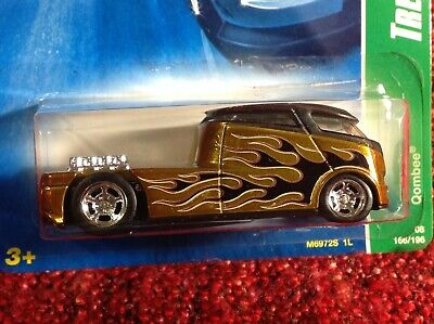 6 OF 12 ERROR Hot Wheels 2008 Super Treasure Hunt Qombee GOLD w/ Real Riders