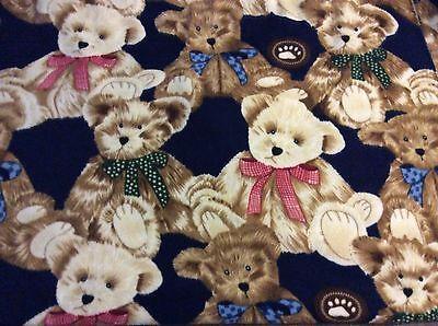 (Giant Teddy Bear on Navy Blue fleece fabric, 60