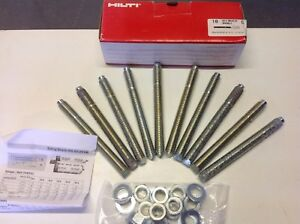 HILTI HAS-E M16 X 125 / 20 RESIN ANCHOR FIXING BOLTS REF 00333105/5