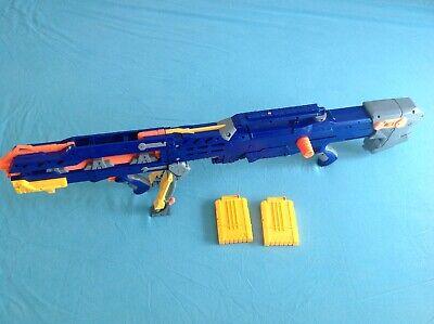 Nerf Longshot CS-6 Rare + Front Gun + x2 Yellow 6 Dart Clips Included