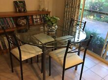 Glass top table and chairs Naremburn Willoughby Area Preview