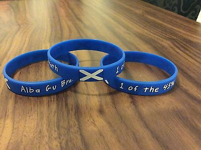 "Scotland wristband, ""Alba Gu Brath"" ""1 Of The 45%"" Scotland Independence"