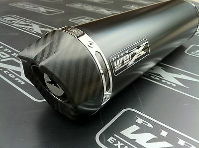 Kawasaki ZZR 1400 2008-2011 Pair of Black Round,Carbon Outlet Exhaust Silencers