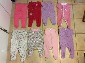 Baby Girl Sleepers (Size 6 Months)