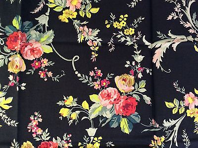 RPFGA21C Shabby English Garden Rose Bouquet Country Floral Cotton Quilt Fabric