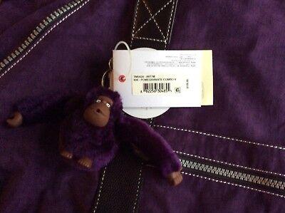 Kipling Art M Purple Travel Tote Bag