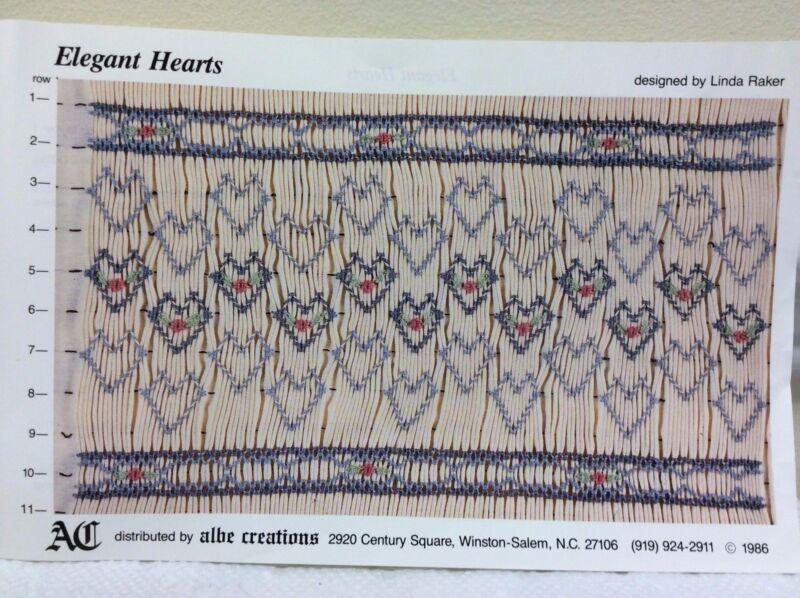 ALBE CREATIONS SMOCKING PLATE-ELEGANT HEARTS