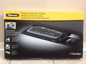 Fellowes Deluxe Keyboard Drawer - Desk Mount 80312