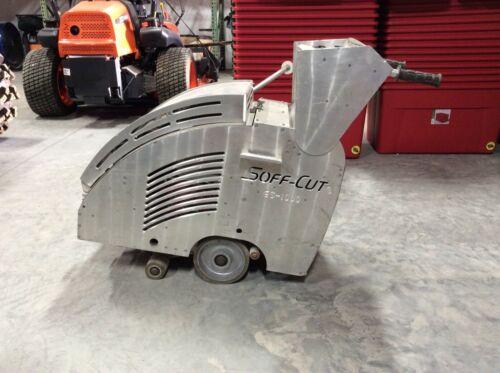 Soft cut concrete saw
