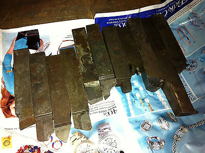 Big Lot 34 Square Carbide Tipped Metal Lathe Tool Cutter Bits Some Hss Too