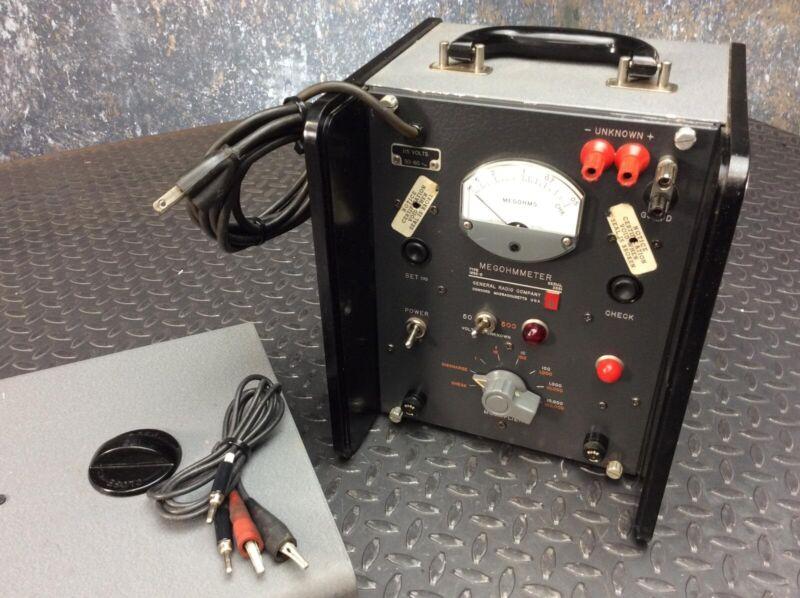 General Radio Megohmeter 1862-B