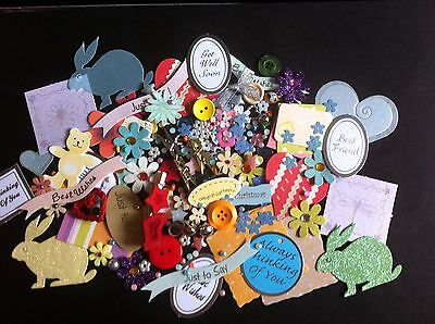 lucky dip bag of 100 embellishments for card making