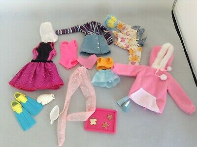 MIXED BARBIE SIZE DOLL BUNDLE, CLOTHES AND ACCESSORIES