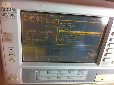Anritsu Me3620a-me0301a- Me0315d-me0314b Sdhsonet Analyzer Transmitter W 2.5 J