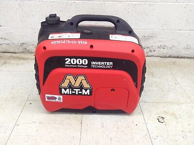 Mi-t-m 2000 Watt Portable Inverter Generator Small Quiet Emergency Backup Power