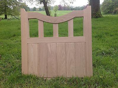 Handcrafted Arched Top Solid European Oak Garden Gate 1050mm X 1050mm Hardwood
