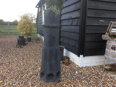 Large Vintage King Crown Chimney Pot glazed