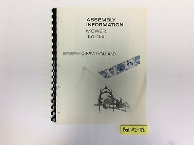 New Holland 451-456 Mower Assembly Information