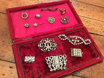 Collection Victorian/antique, paste brooches,buckles, pendants clasps & fob seal