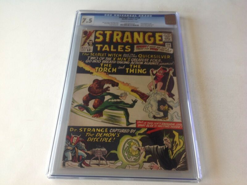 STRANGE TALES 128 CGC 7.5 EARLY SCARLET WITCH QUICKSILVER DR STRANGE MARVEL
