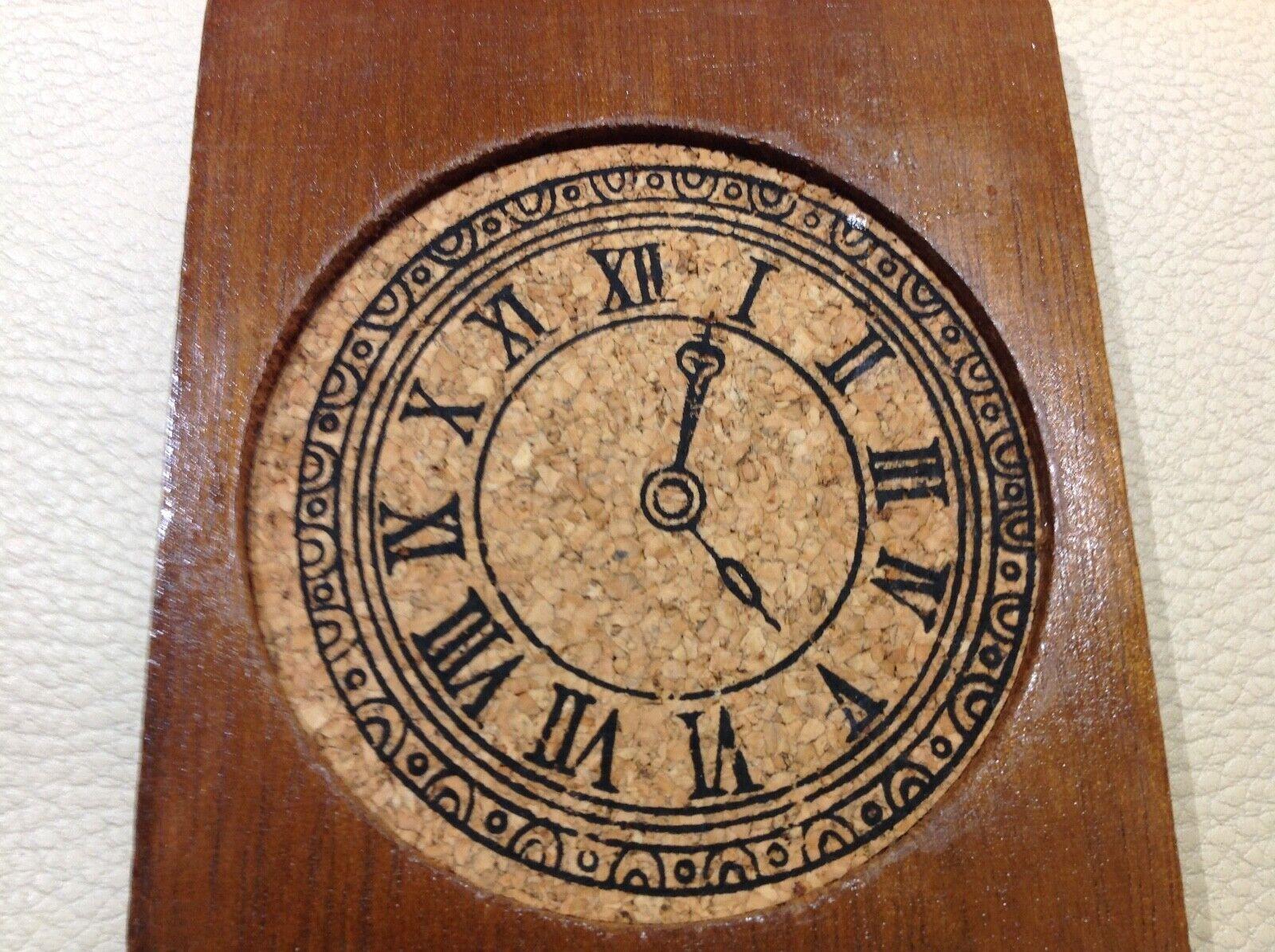 6 dessous de verre en bois et liÈge dans leur boite dÉcor horloge