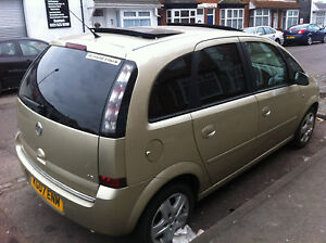 2007 VAUXHALL MERIVA DESIGN GOLD DOUBLE ELECTRIC SUNROOF