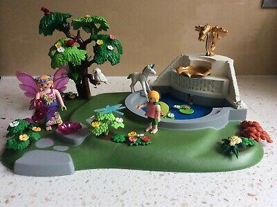 Vintage Playmobil 4008 - Fantasy Fairy Princess Garden Unicorn and Fountain.