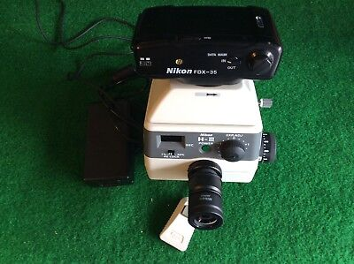 Nikon Hiii Microscope Camera Body With Fdx-35 35mm Camera  Eyepiece