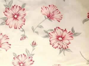 100% Linen Fabric Gorgeous Quality Floral Print with Off White Ground By Yard