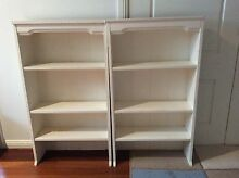 2 x white bookshelves Grays Point Sutherland Area Preview