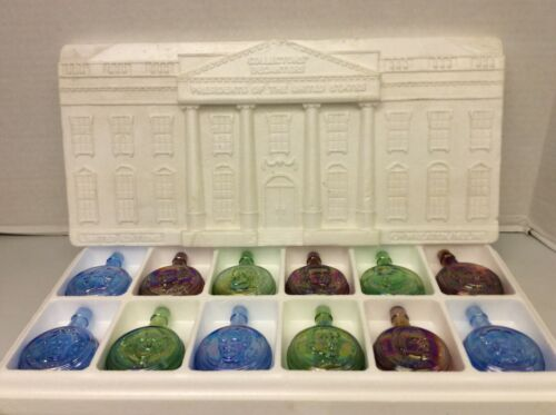 Wheaton Nuline Carnival Glass Mini Flask Presidents Collection Limited Edition