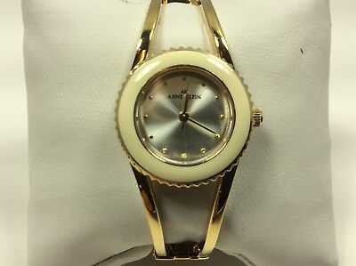 Anne Klein 10/7810 Women's Watch Silver Tone Analog Dial Gold Tone Case Band