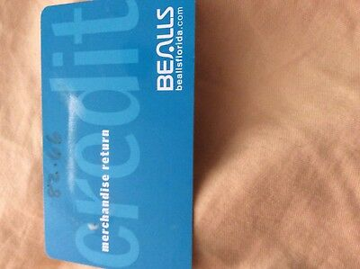 Bealls Dept Store Credit Or Merchandise Card With  82 66  Does Not Expires