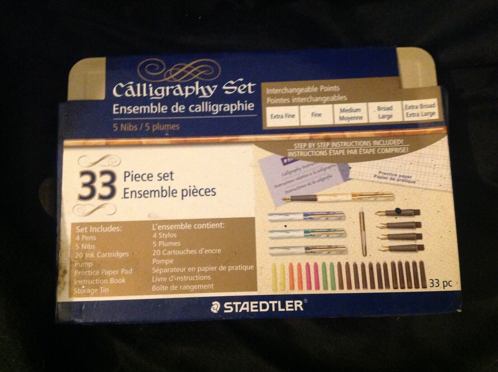 Staedtler Calligraphy 33 Piece Set - 4 Pens - 5 Nibs - 20 Ink Cartridges - $27.00