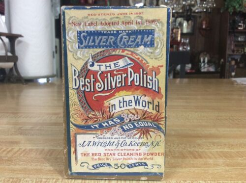 "Rare, Vintage 1903, ""The Best Silver Polish in the World."" Unopened, NOS"